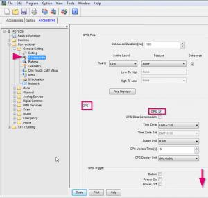 Screenshot 1 für Anleitung HYT PD785G für GPS Einstellungen für APRS