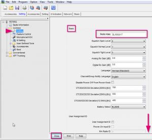 Screenshot 4 für Anleitung HYT PD785G für GPS Einstellungen für APRS
